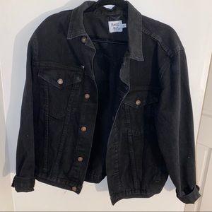 Oversized black denim jacket